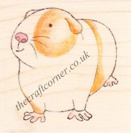 Guinea Pig Paper Nation Wooden Rubber Stamp